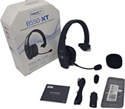 BlueParrott B550-XT Bluetooth Headset Bundle 204165 MW   Includes Mobile Wallet Protector   Streaming Music, and NFC Ready   100% Voice-Controlled Rugged Headset   Water, Dust Resistant - IP54 Rated