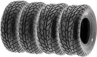 Set of 4 SunF A021 TT Sport ATV UTV Flat Track Tires 26x8-14 Front & 26x10-14 Rear, 6 PR, Tubeless