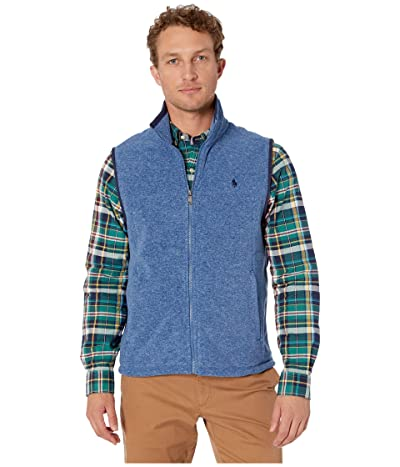 Polo Ralph Lauren Poly Fleece Vest (Fog Blue Heather) Men