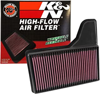 K&N engine air filter, washable and reusable:  2015-2019 Ford Mustang L4/V6/V8 33-5029