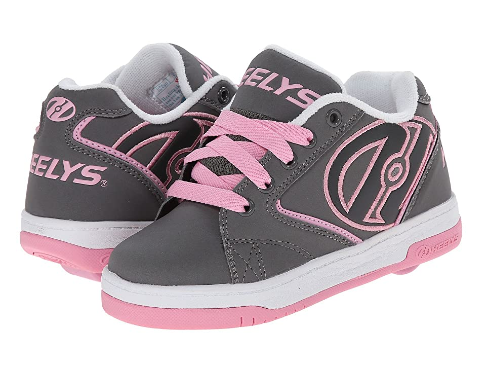 Heelys Propel 2.0 (Little Kid/Big Kid/Adult) (Grey/Pink/White) Kids Shoes