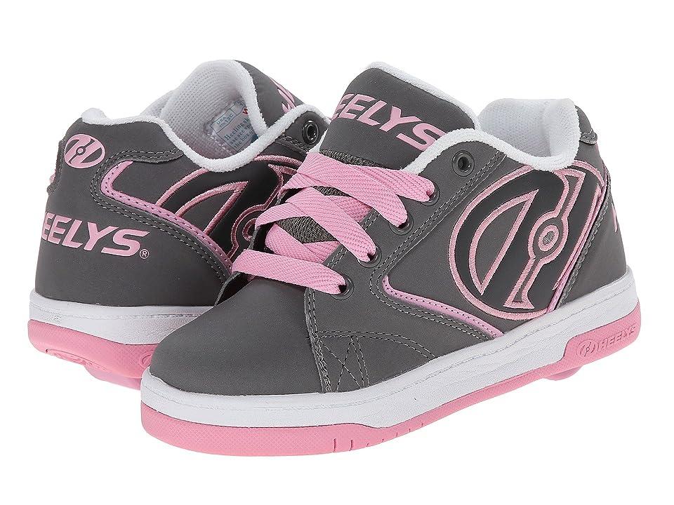 Heelys Propel 2.0 (Little Kid/Big Kid/Adult) (Grey/Pink/White) Kids Shoes, Gray