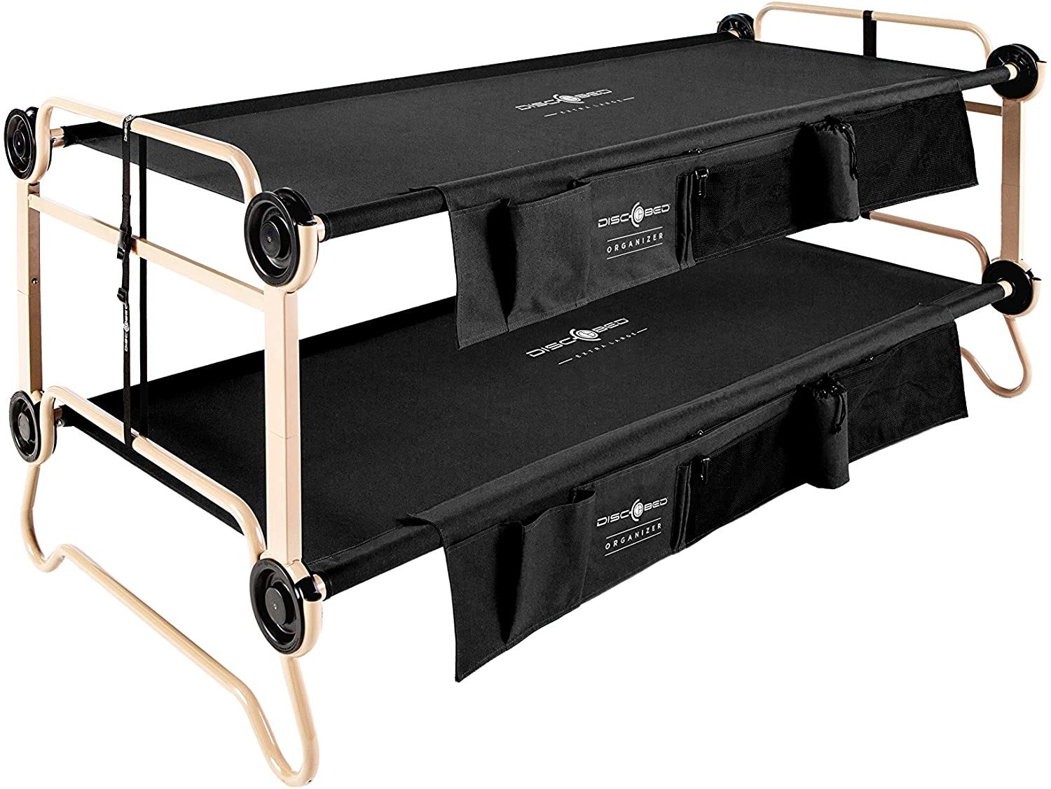 Amazon Com Disc O Bed With Organizers Black Large Sports Outdoors