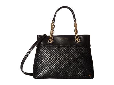 Tory Burch Fleming Small Tote (Black) Tote Handbags