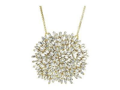 SOLE / SOCIETY 18 Drama Necklace (12K Soft Polish Gold/Crystal) Necklace