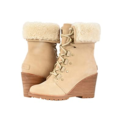 SOREL After Hourstm Lace Shearling (Oatmeal Nubuck) Women