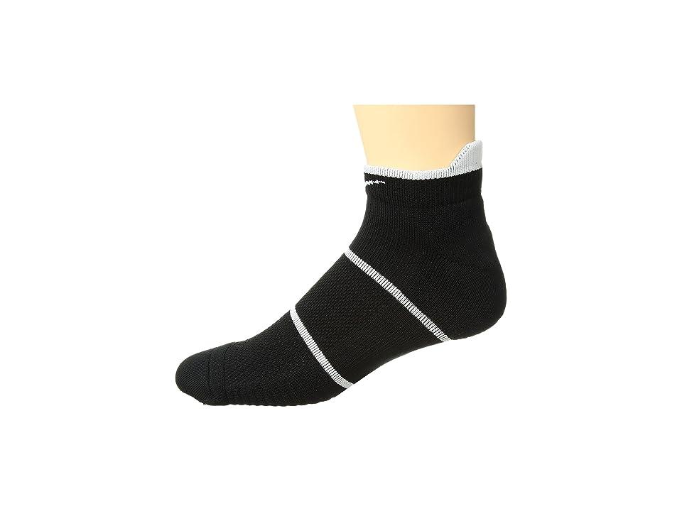 Nike NikeCourt Essentials No Show Tennis Socks (Black/White) No Show Socks Shoes