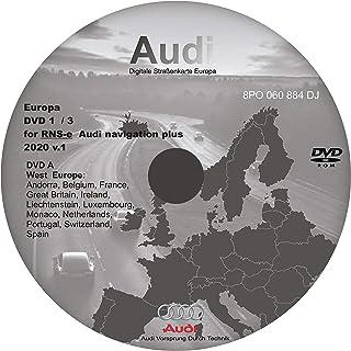 RNS E 2017–2018 Navigation Plus Navi Karte DVD UK, Europa (Disc 1) – kompatibel mit Audi, Seat Exeo