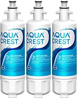 AQUACREST ADQ36006101 Refrigerator Water Filter, Replacement for LG LT700P, Kenmore 9690, 46-9690, ADQ36006101, ADQ36006102, LFXS30766S, HDX FML-3, RFC1200A, PL-500, 3 Filters (package may vary)
