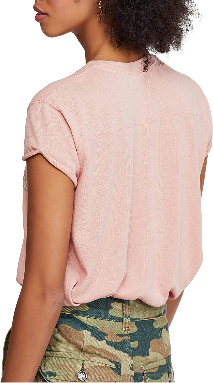 Free People Womens Fresh Knit Graphic T-Shirt