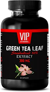 Green Tea Fat Burner - Green Tea Leaf Extract 300mg - Anti-inflammatory (1 Bottle - 60 Capsules)