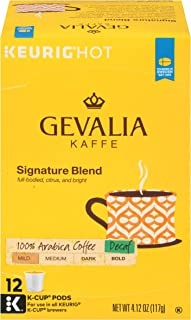 Gevalia Signature Blend Decaf Mild Roast K-Cup Coffee Pods (72 Pods, 6 Packs of 12)