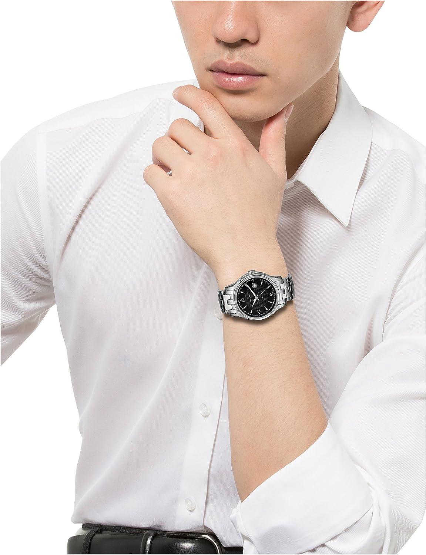 Hamilton Mens H32515135 Jazzmaster Viewmatic Black Guilloche Dial Watch