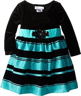 Tween Girls 7-16 Black Long Sleeve Spangled Dot Bias Tier Dress Bonnie Jean