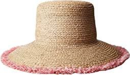 Hat Attack - Raffia Braid Lampshade w/ Fringe