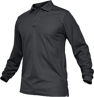 TACVASEN Men's Outdoor Sport Performance Polo Long and Short Sleeve Shirt Tctical Top Tee Shirt