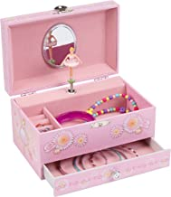 Jewelkeeper Pink Girl`s Ballerina Musical Jewelry Box with Pullout Drawer, Jewel Storage Organizer Case, Swan Lake Tune