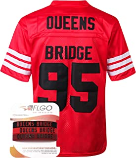 Mobb Deep #95 Hennessy Prodigy Queens Bridge Shook Ones Jersey Stitched Clothing Throwback, Top Bonus Combo Set with Wristbands