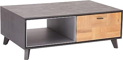 Cosy Meubletmoi Couchtisch exotisch originelles Design skandinavisch nat/ürliches /& authentisches Design rund 50 cm Teak Chalet