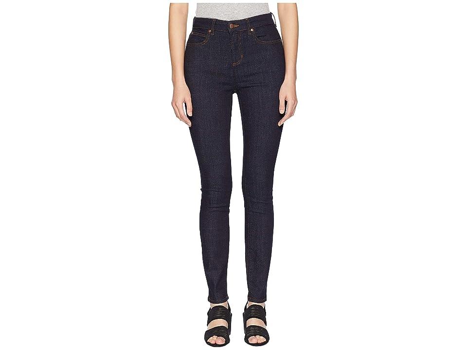Eileen Fisher Organic Cotton Stretch Denim High-Waisted Skinny Jeans in Dark Denim (Dark Denim) Women