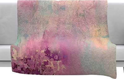 Kess InHouse Frederic Levy-Hadida Sunset Multicolor Landscape Fleece Throw Blanket 80 X 60 80 by 60-Inch