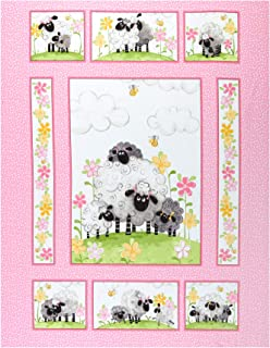 Susybee Lal the Lamb Quilt Panel 36'' Pink Fabric