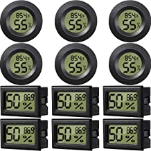 12 Pieces Mini Digital Electronic Temperature Humidity Thermometer LCD Monitor Temperature Humidity Meters for Humidors Gr...