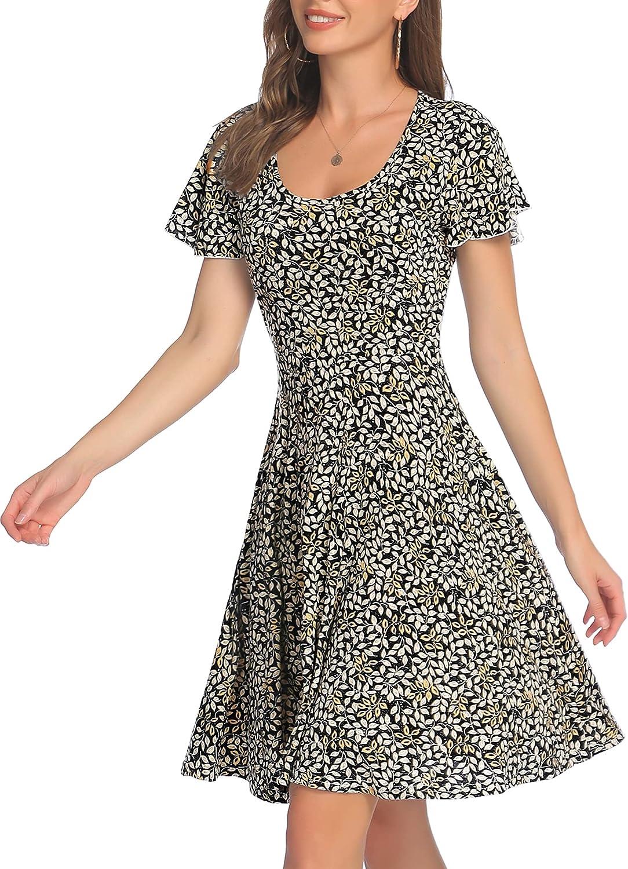 ACEVOG Detroit Mall Women's Luxury goods Dress Sleeveless Fl Flared Swing Adjustable