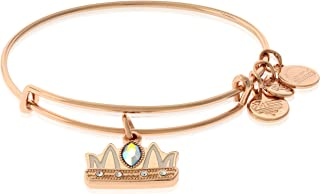 Queen Mom Charm Bangle in Shiny Rose Gold Finish A18EBQMSR