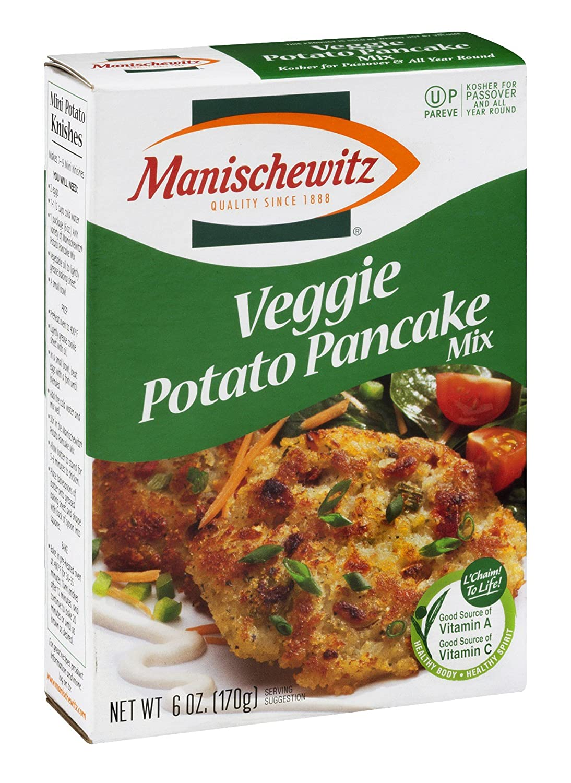 Manischewitz Veggie Potato Pancake Mix Dedication Box of Popular 12 6-Ounce Pack