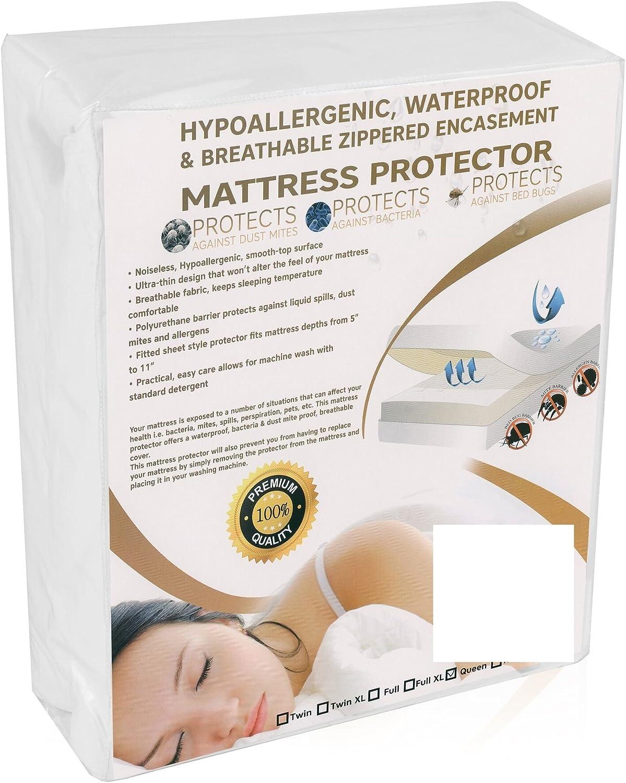 Twin Size Premium Waterproof Vinyl Free Mattress Predector Cover Hypoallergenic, for Bed Bugs Dust Mites