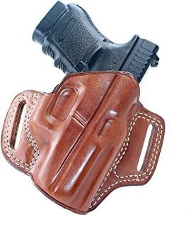 MASC HOLSTERS Premium The Ultimate Leather OWB Pancake Holster with Open Top Fits, Kahr P380, Right Hand Draw, Brown Color #1029#
