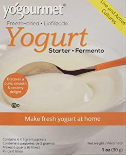 Yo Gourmet Freeze Dried Yogurt Starter - 1 Box Containing 6 Each 5 Gram Packets