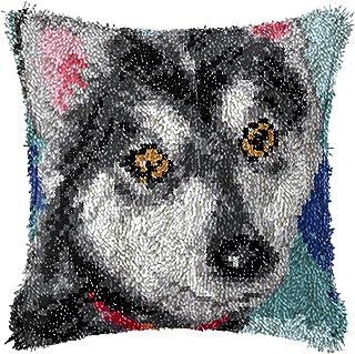 Lanrui Crochet de loquet Kits DIY THIRE Couverture d'oreille IMPRIMÉ avec Change Mont Chien Motif ARRIGE DE Travail ARRIEU...