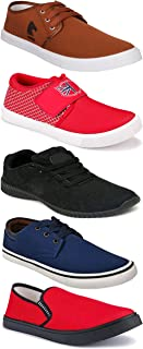 WORLD WEAR FOOTWEAR Sports Running Shoes/Casual/Sneakers/Loafers Shoes for Men Multicolor (Combo-(5)-1219-1221-1140-664-1138)
