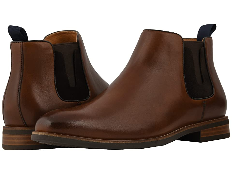 Florsheim Uptown Plain Toe Gore Boot (Cognac Suede/Leather) Men