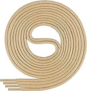 Di Ficchiano runde gewachste Schnürsenkel für Business, Anzug- und Lederschuhe - ø 2-4 mm - Längen 45cm - 200 cm - sehr reißfest - Made in Europa