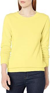 Amazon Essentials Jersey de Cuello Redondo 100% algodón. Chamarra para Mujer