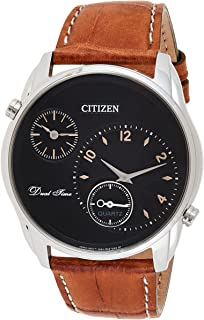 CITIZEN Mens Quartz Watch, Analog Display and Leather Strap - AO3030-08E
