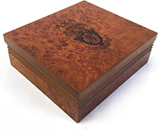 Lambda Chi Alpha Fraternity Wood Pin Box Marble Effect Elegantly Engraved Greek Letter