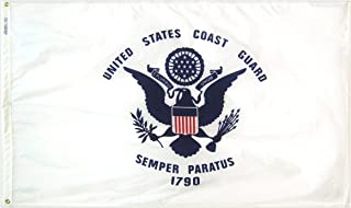 Annin Flagmakers Model 439040 U.S. Coast Guard Military Flag 3x5 ft. Nylon SolarGuard Nyl-Glo 100% Made in USA to Official Specifications. Officially Licensed Manufacturer.