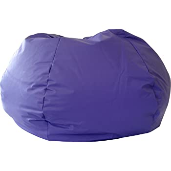 Gold Medal Bean Bags XX-Large Leather Look Bean Bag, Purple