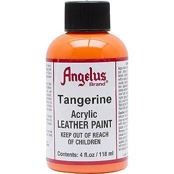Angelus Leather Paint 4 Oz Tangerine