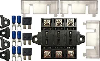 Stack-able Add-on In-line Fuse Holder Panel & Distribution Block for ATO/ATC & ATM/MIN Blade Fuses - Automotive Marine Car Boat RV (3)