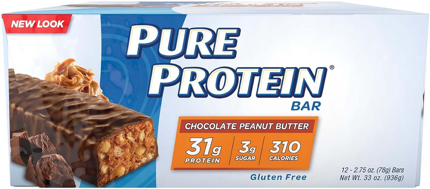 前投薬モバイル医学31グラムのプロテインバー ピュアプロテイン78グラム チョコレートピーナッツバター 12本バリューセット 【アメリカからの送料無料】 Pure Protein Chocolate Peanut Butter