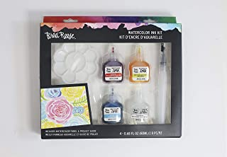 Brea Reese Watercolor Ink Art Kit - Set of Three Watercolor Inks, One Glitter Additive and Two Tools - Everything You Need to Create with Confidence