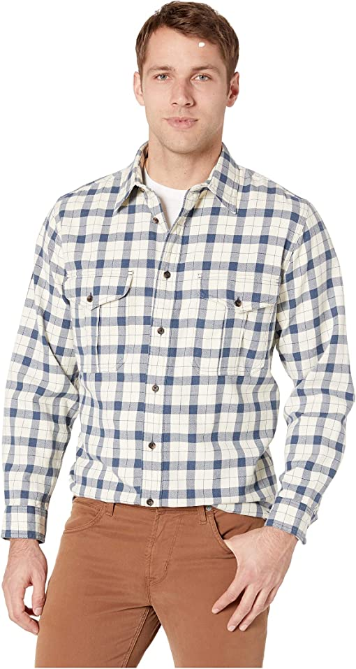 Natural/Blue Heather Plaid