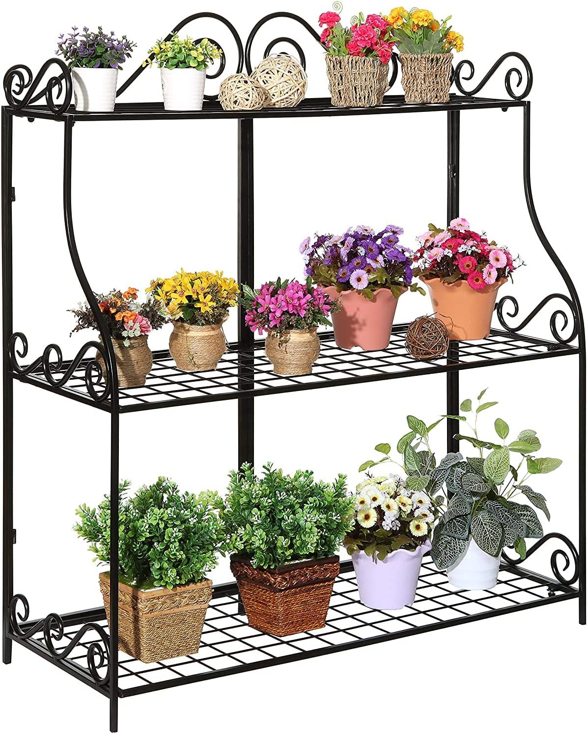 Freestanding 1 year warranty Metal Scrollwork Design 3 St Plant Stand Tier Max 47% OFF Home