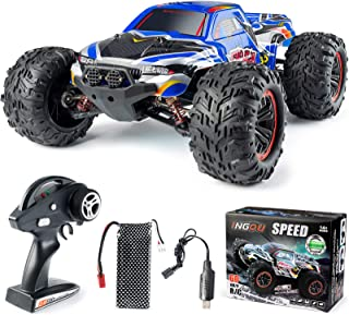 1:10 Scale High Speed 60km/h 4WD Off-Road RC Car 2.4Ghz Brushless Remote Control Monster Truck (Blue)