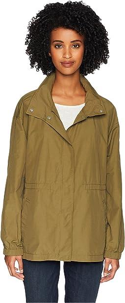 Light Organic Cotton Stand Collar Jacket